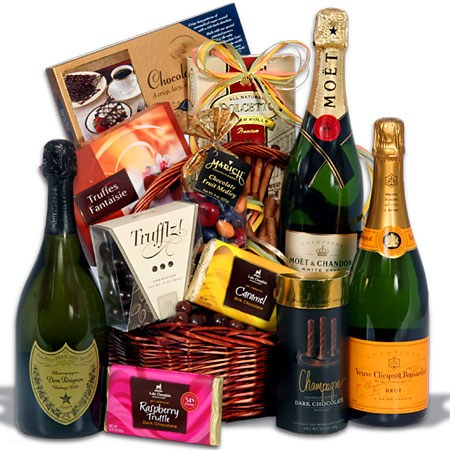 Champagne and Truffles Real Estate Closing Gift Basket