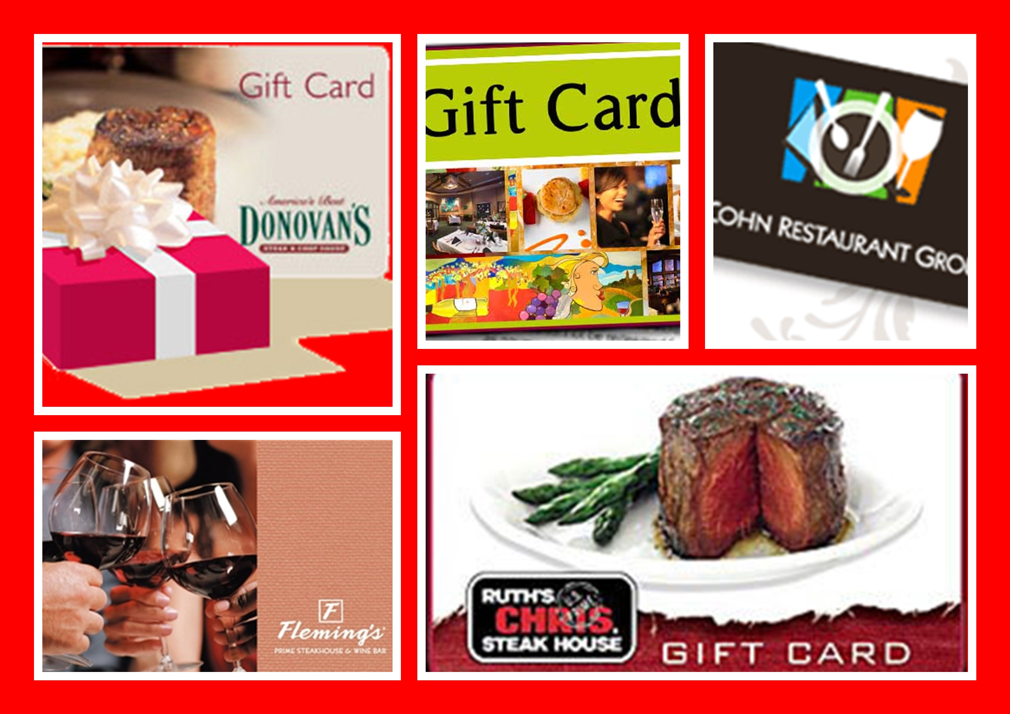 Restaurant Gift Card Real Estate Closing Gifts