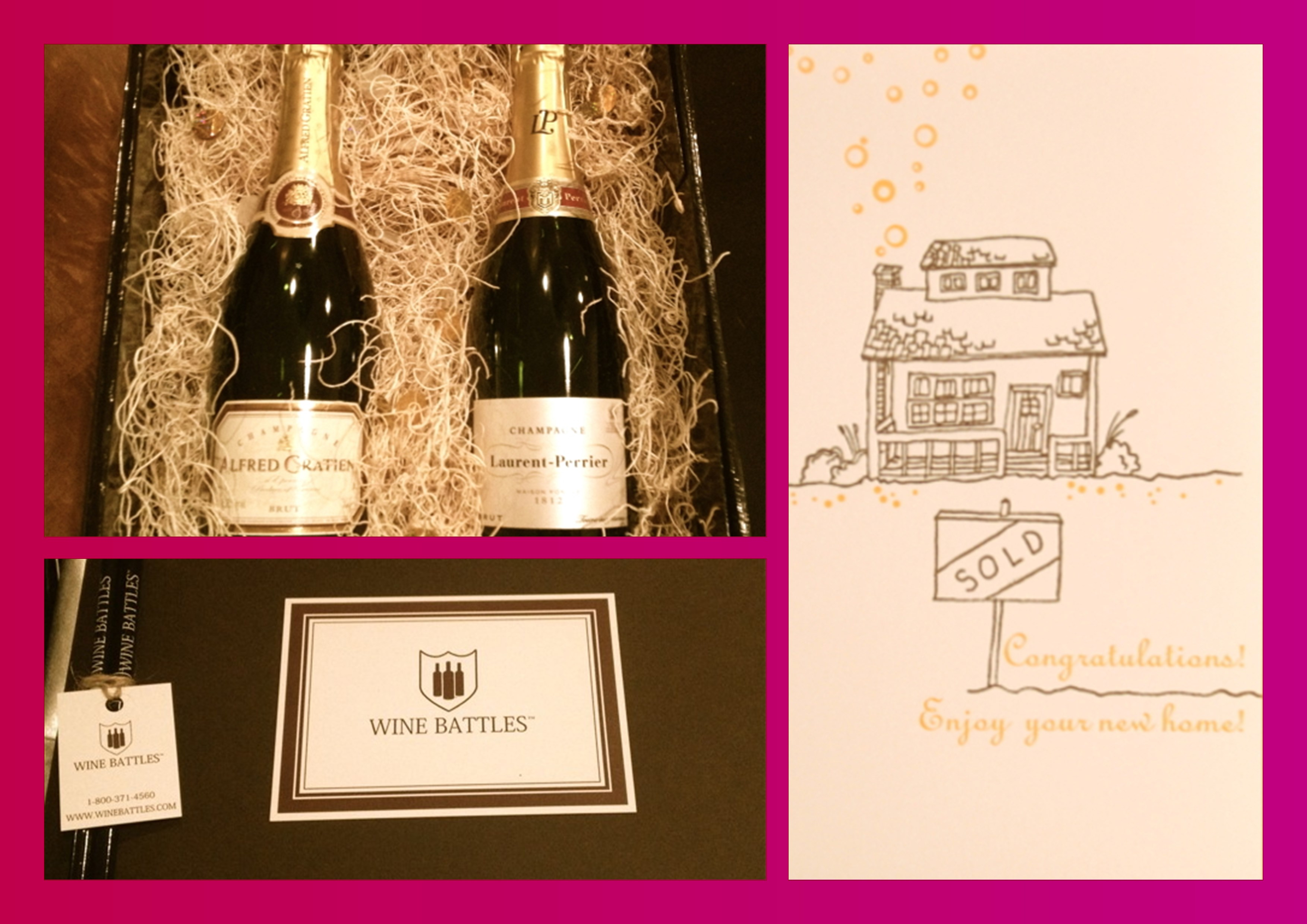 Wine Battles Congratulations on Your New Home Realtor Closing Gift