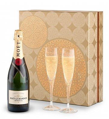 Champagne & Flutes Gift Set