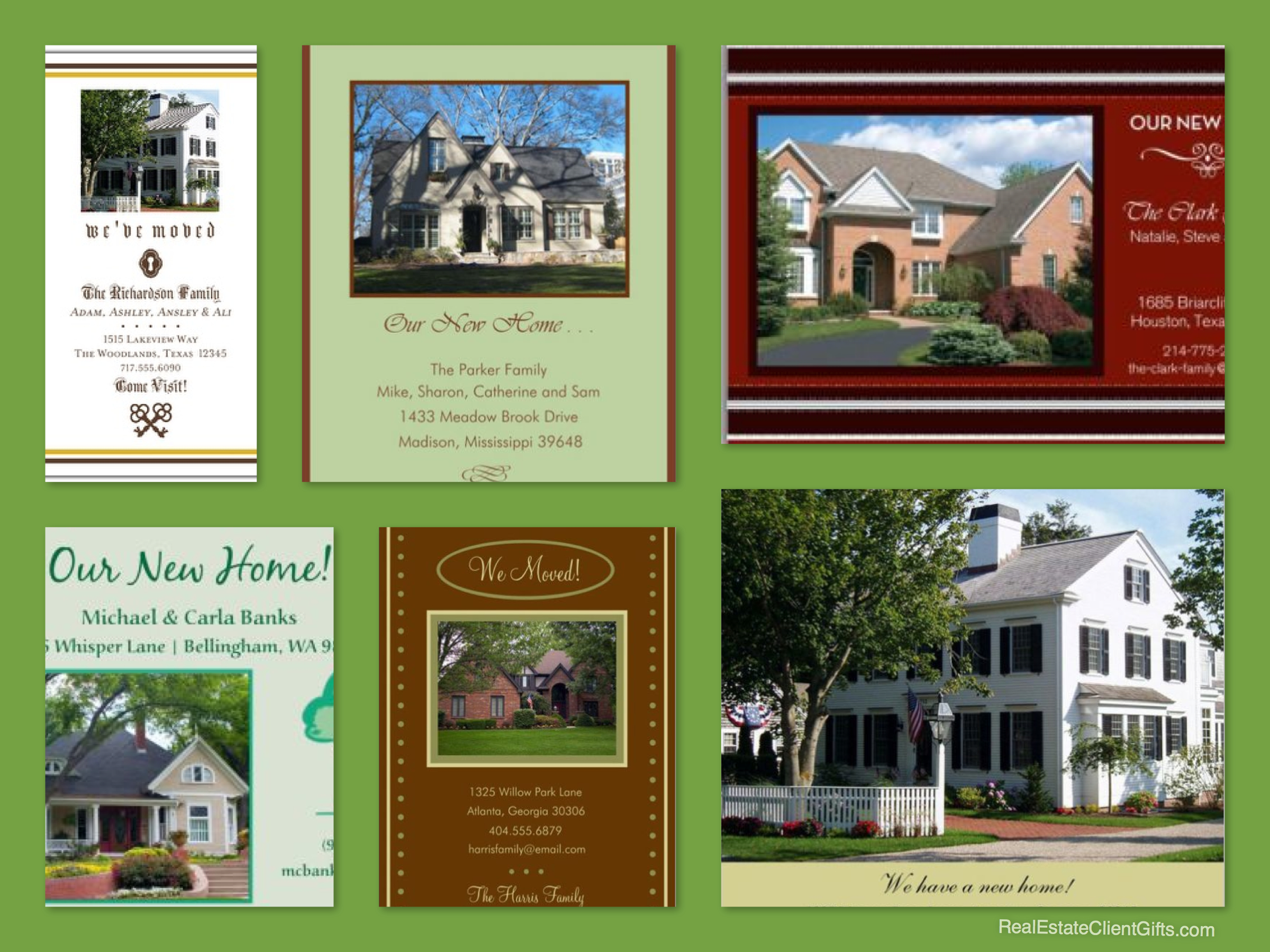 Photo Moving Cards, Realtor Gift Ideas