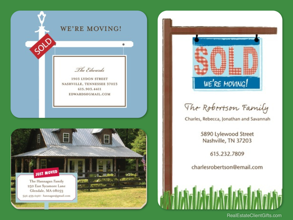 Realtor Sign Moving Announcements