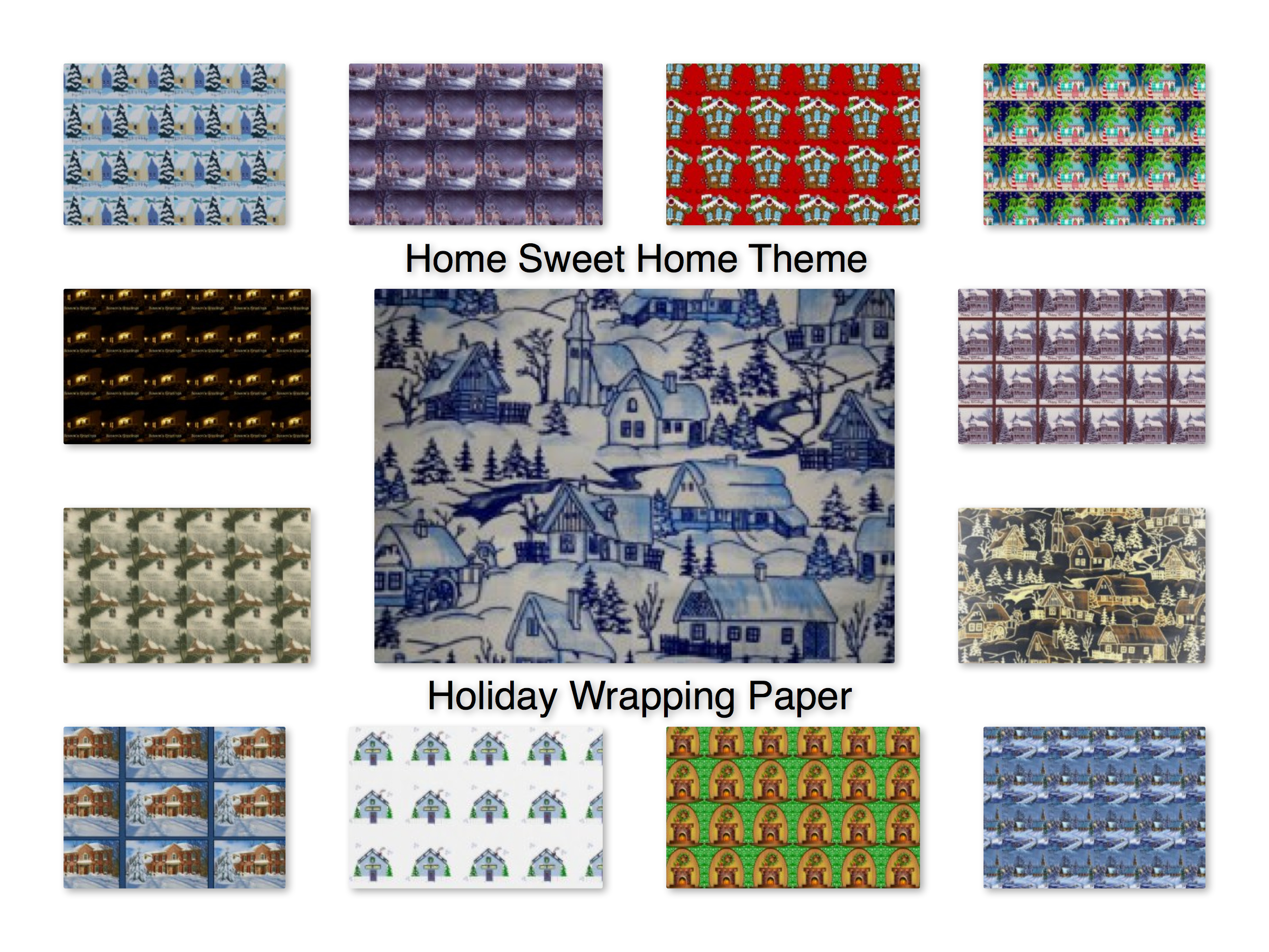 Home Sweet Home Theme Holiday Wrapping Paper for Realtors