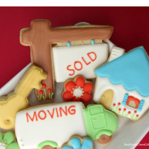 Moving, Sold, House Cookies Realtor Housewarming Gift