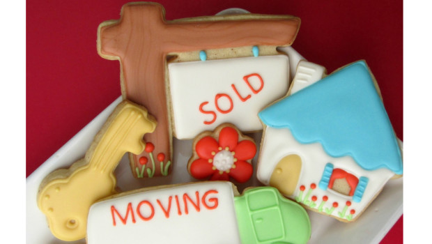 Moving, Sold, House Cookies Realtor Housewarming Gift, Real Estate Client Thank You Gift of Fresh Baked Cookies