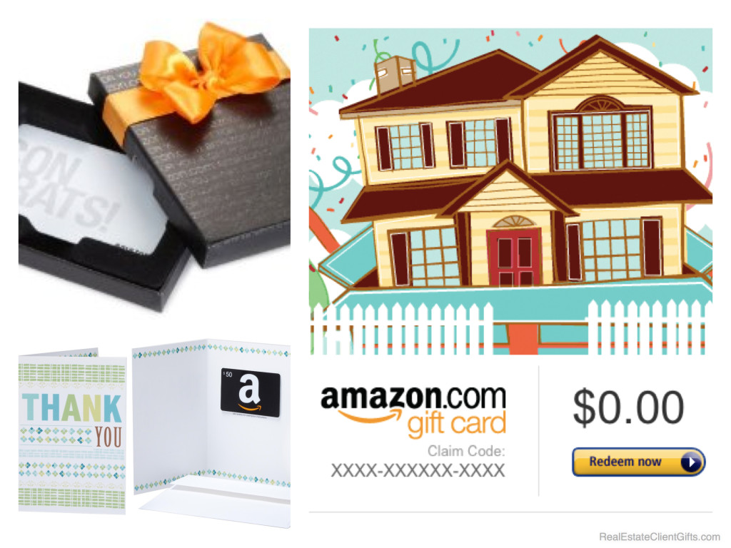 Amazon Gift Cards - Housewarming Realtor Thank You Gifts