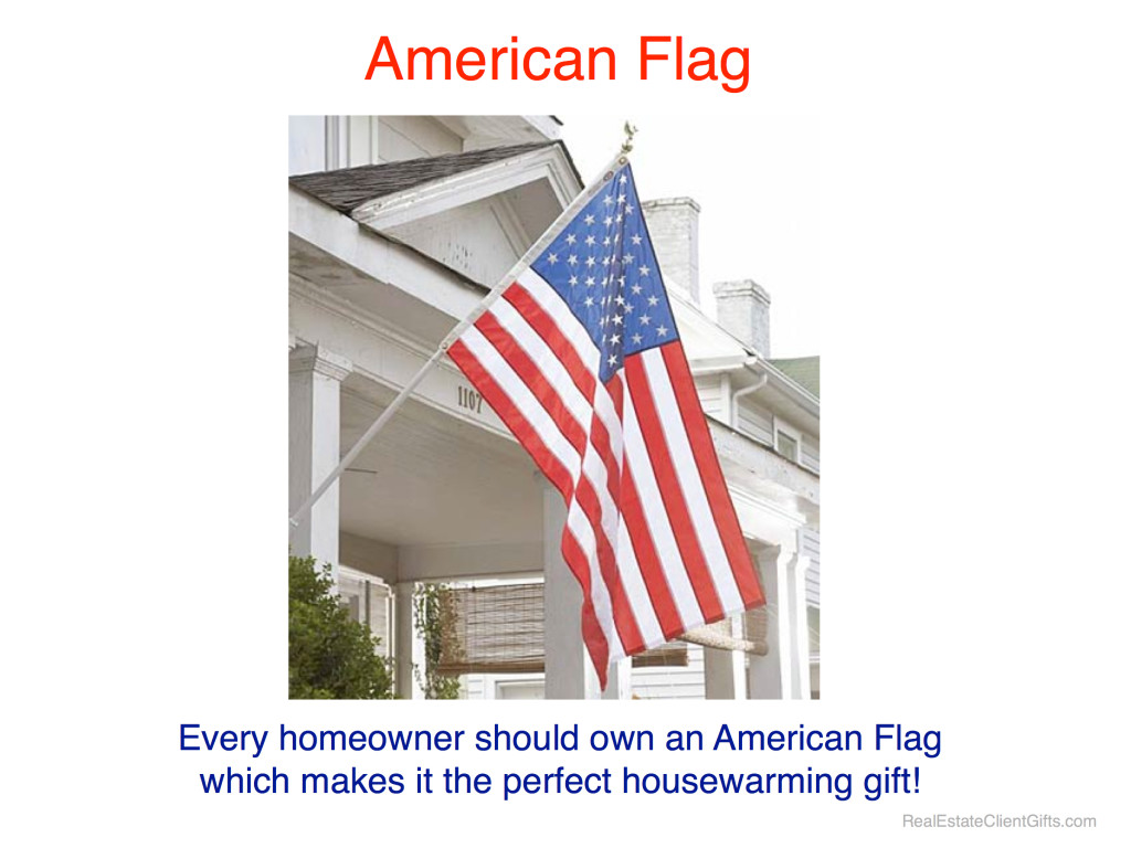 American Flag Realtor Housewarming Thank You Gift