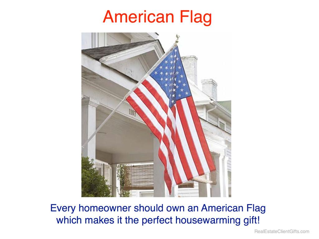 American Flag Realtor Housewarming Thank You Gift