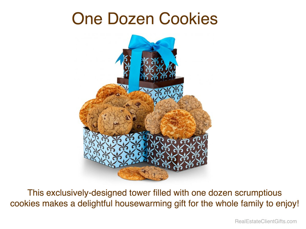 One Dozen Delicious Cookies - Realtor Housewarming Thank You Gift