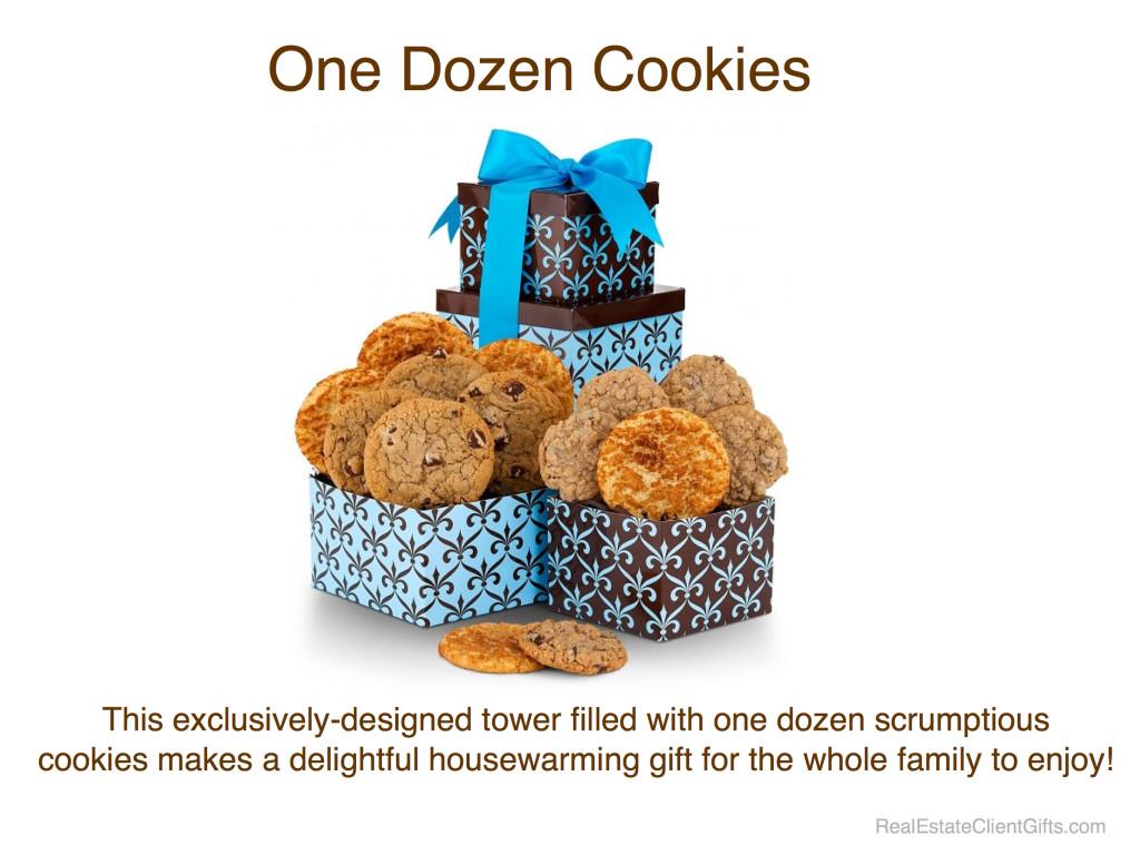 One Dozen Delicious Cookies - Realtor Housewarming Thank You Gift
