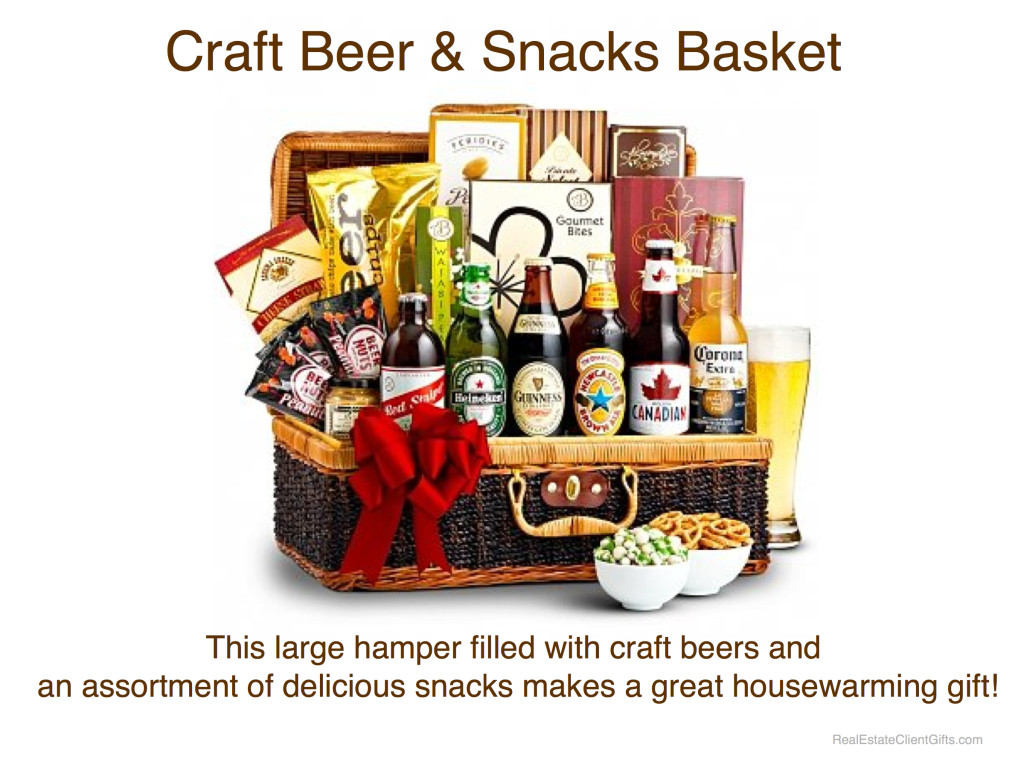 Craft Beer & Snacks Basket Realtor Housewarming Thank You Gift