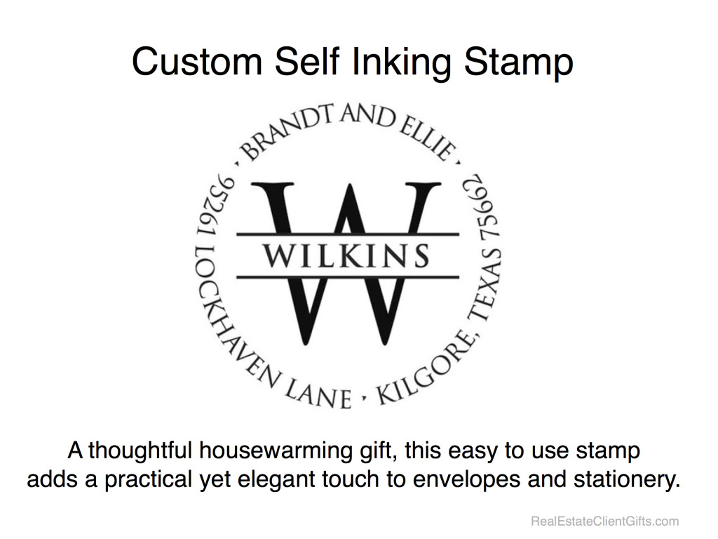 Custom Self Inking Stamp - Realtor Housewarming Thank You Gift