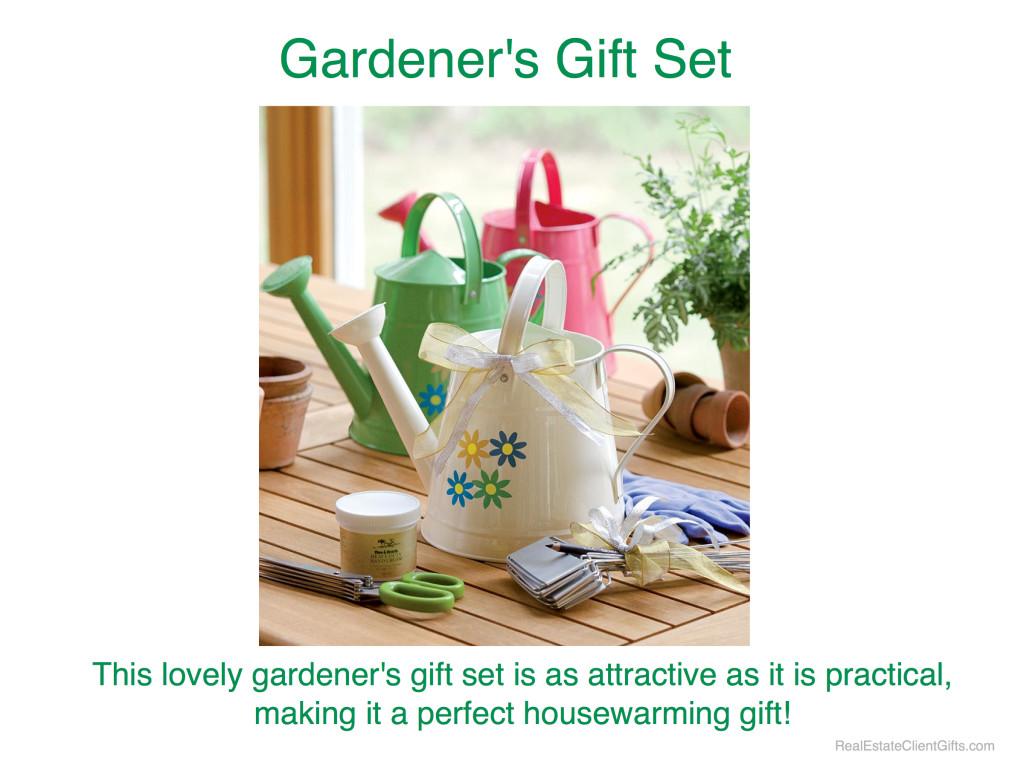 Gardener's Gift Set Realtor Housewarming Thank Your Gift
