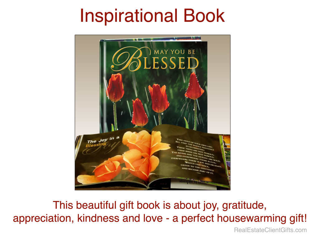 Inspirational Book, May You Be Blessed, Realtor Housewarming Thank You Gift