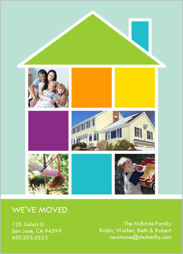 Moving Announcement Home Photo Collage Realtor Thank You Gift