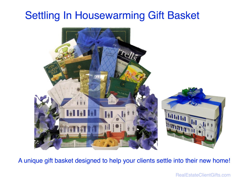 Realtor Housewarming Client Thank You Gift Basket
