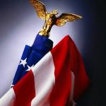 Premium Spinning Pole US Flag Set, Patriotic Realtor Housewarming Gift