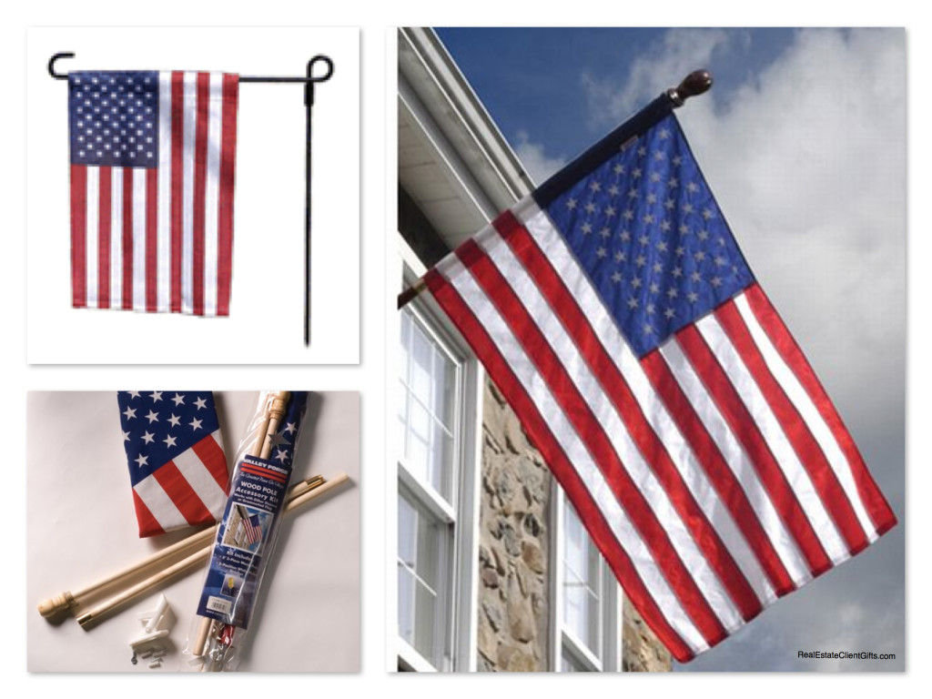 Realtor Housewarming Business Appreciation Gift American Flags