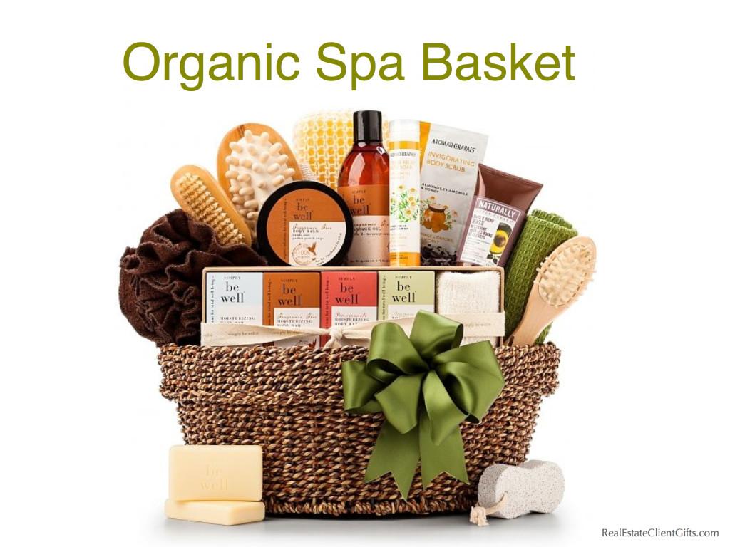 Realtor Closing Gift Organic Spa Basket, Best Spa Gifts
