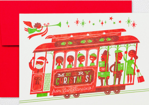 CABLE CAR CHRISTMAS from SAN FRANCISCO Holiday Cards