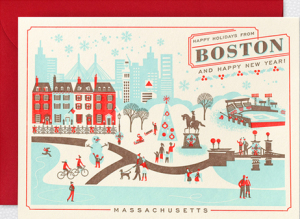 Boston Home Town Holiday Cards