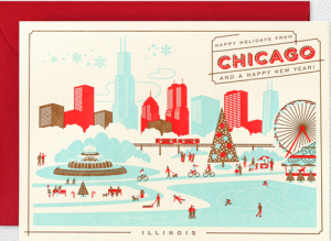 Chicago Home Town Holiday Cards