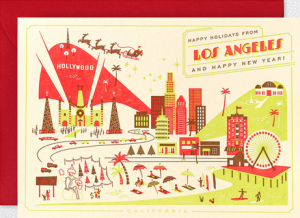 Los Angeles Home Town Holiday Cards