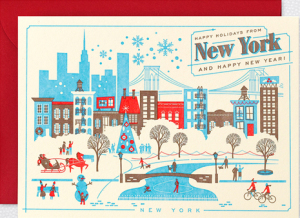 New York Home Town Holiday Cards