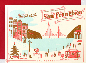 San Francisco Home Town Holiday Cards