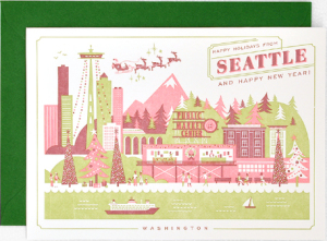 Seattle Home Town Holiday Cards