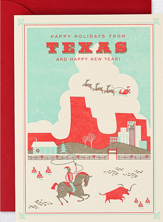 Texas Home Town Holiday Cards