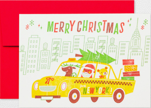 New York Cab Home Town Holiday Cards