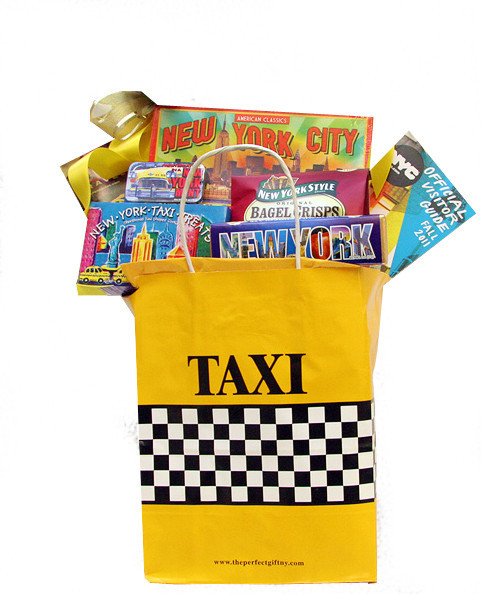 NYC Taxi Bag Housewarming Gift, Relocation Housewarming Gifts