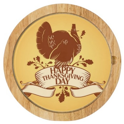 thanksgiving day design with turkey and ribbon cheeseboard, Seasonal Housewarming Gifts