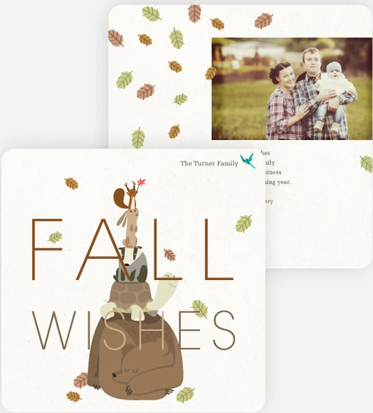 fall wishes thanksgiving cards