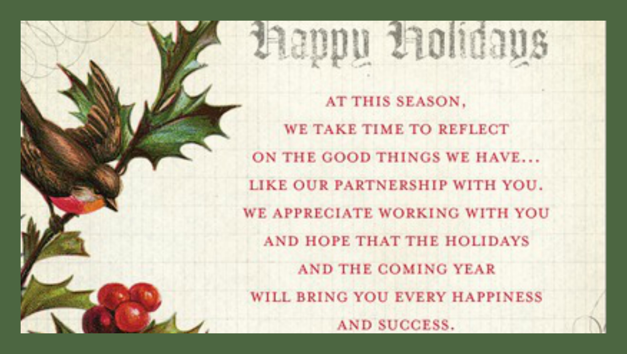 holiday message to clients - Tire.driveeasy.co