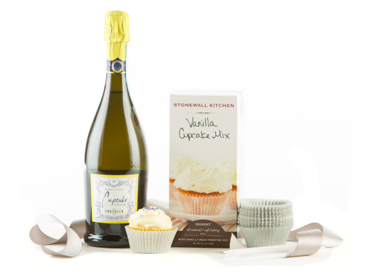 Cupcakes & Sparkling Wine Gift Set, Wine and Champagne Gifts
