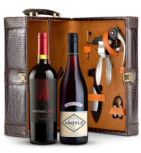 Deluxe Dual Wine Tote, Wine and Champagne Gifts