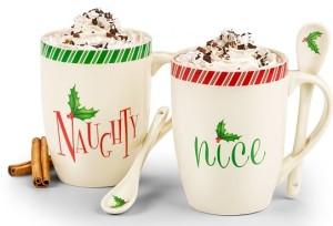 Lenox Naughty and Nice Mug Set