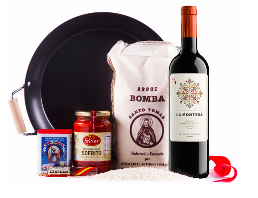 Paella with 91 Point Spanish Wine Gift Set, Wine and Champagne Gifts
