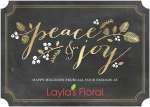 Sprigs and Sprays Business holiday cards
