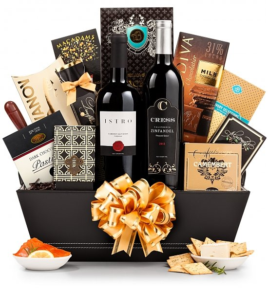 The 5th Avenue Wine Gift Basket, Wine and Champagne Gifts