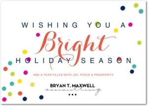 bright points business holiday cards