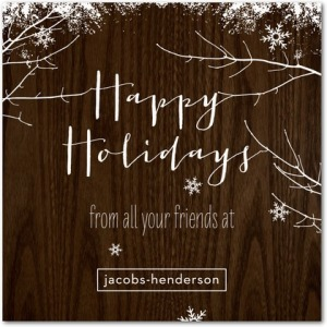 cedar snowfall business holiday cards