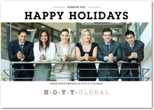 distinct decree business holiday photo cards