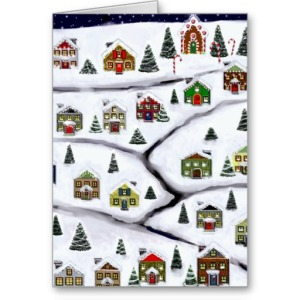 real estate holidays greeting card