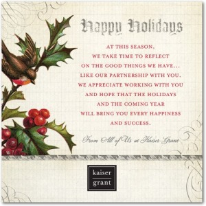 rustic reflections business holiday cards