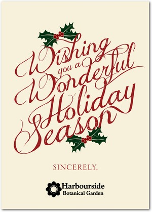 written wishes business holiday cards