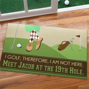 Gone Golfing Personalized Doormat, Golfer Gifts of Thanks