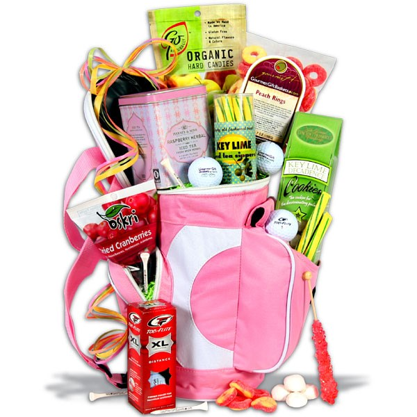 Ladies Tee Time Golf Gift Basket, Golfer Gifts of Thanks